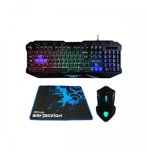 Keyboard + Mouse GAMING REXUS VR1 (FREE Mouse pad)