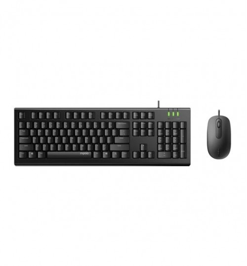 Rapoo X120Pro USB Wired Keyboard & Mouse Combo Optical 1600 DPI